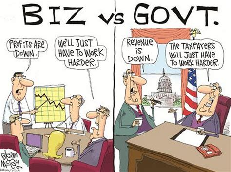 the difference between business government in 1 simple