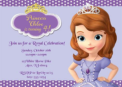 sofia the birthday card template 2 mind blowing sofia the birthday invitations