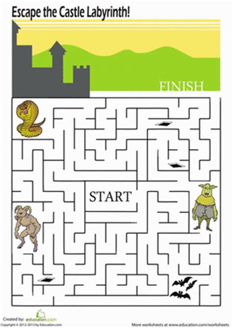 printable mazes first grade 1st grade mazes worksheets free printables education com