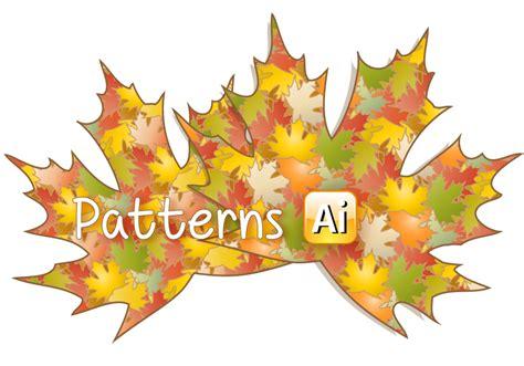 Illustrator Pattern Leaves | 2 autumn leaves illustrator patterns by flashtuchka on