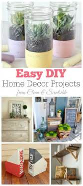 easy home projects for home decor friday favorites diy home decor projects clean and scentsible