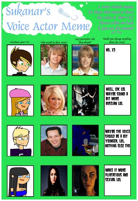 Voice Meme - voice actor meme by eternalinsanity787 on deviantart