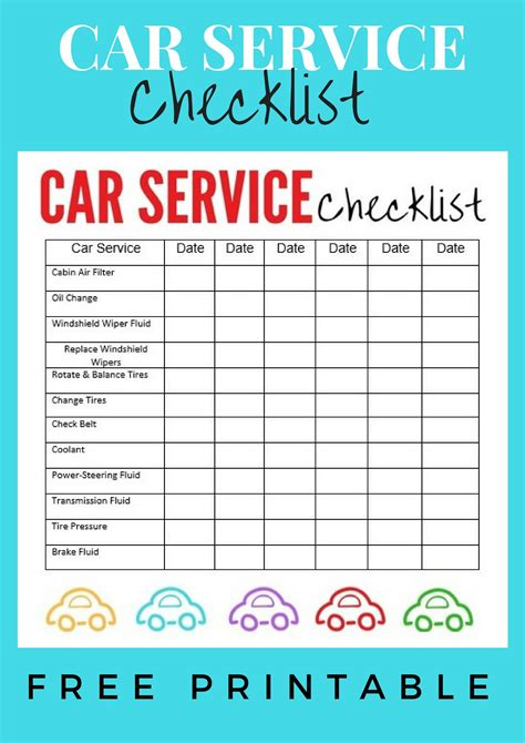 vehicle service checklist template car service checklist explores southwest florida