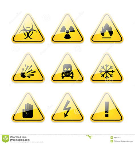 format eps photo icons warning signs of danger royalty free stock photo