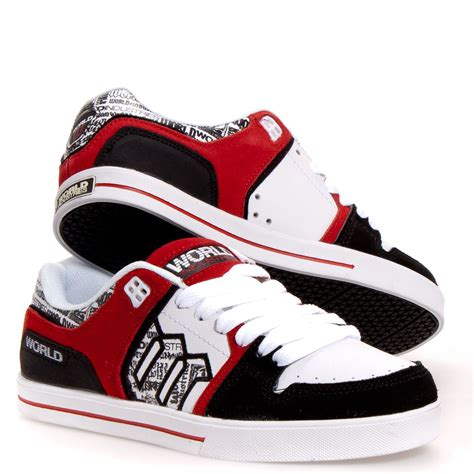 world shoes world industries monarch s skate shoes white 7 5