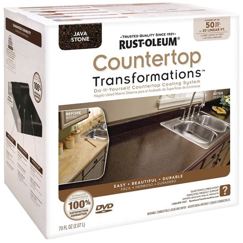 how to transform kitchen cabinets and countertop with rust