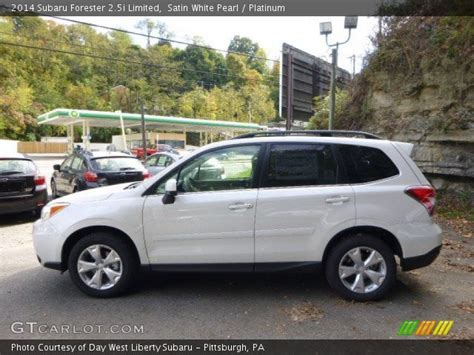white subaru forester 2014 satin white pearl 2014 subaru forester 2 5i limited