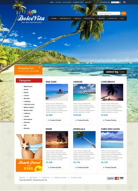 travel agency html template travel agency zencart template 32518