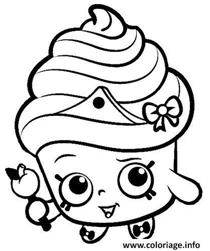 shopkins coloring pages easy coloriage shopkins for kids dessin
