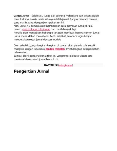 Contoh Jurnal Skripsi Di Word - Pejuang Skripsi