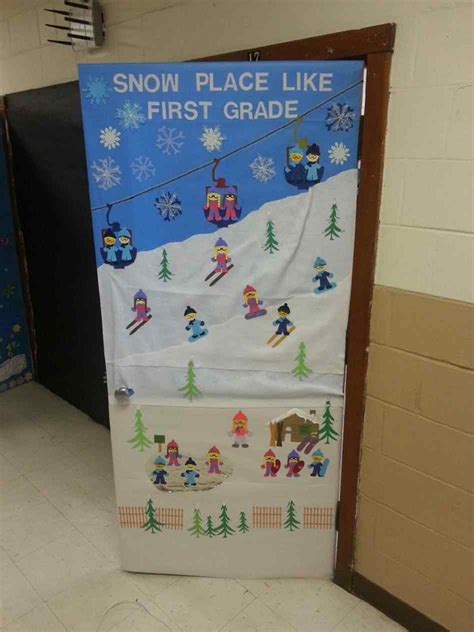 decorating an elementary school for christmas winter door decorations elementary kapan date