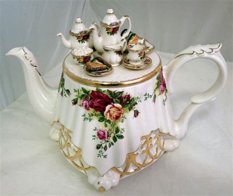 rose royal details about royal albert unique old country roses teapot like table teatime themed cover