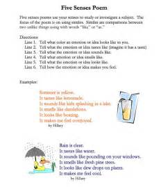 Simile poems for kids 5 senses simile poems poetry pinterest simile