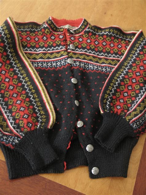 Handmade Sweaters - vintage knit cardigan sweater label reads