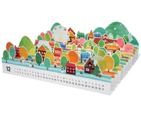 Canon 3d Papercraft - papermau mini city 3d papercraft calendar 2012 by canon