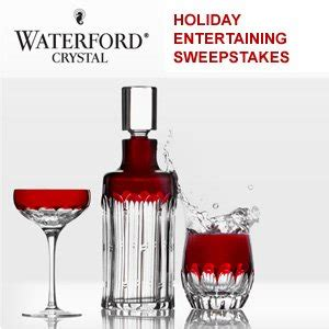 Holiday Entertaining Sweepstakes - waterford crystal holiday entertaining sweepstakes enter online sweeps