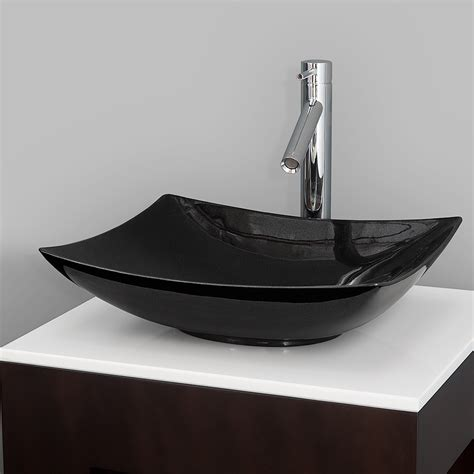 black granite vessel bathroom sinks arista vessel sink by wyndham collection black granite