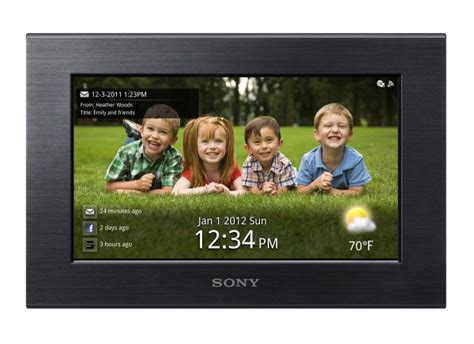 cornice digitale touch screen sony s frame w700 la cornice con wi fi e touchscreen