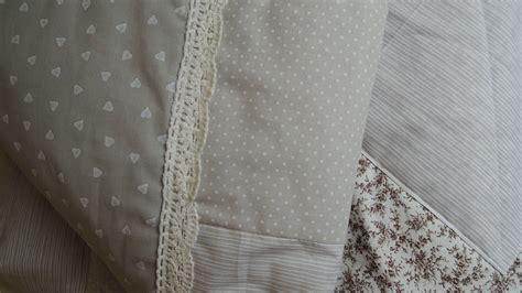 Decke Grau Weiss by Patchwork Decke Grau Beige Wei 223 187 Kermine Handmade