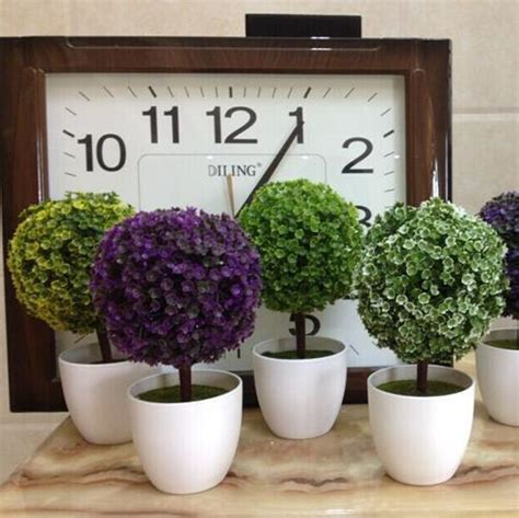 Vase Sepeda Anyaman Bunga Hias artificial tree white vase mini colors bonasi decorative house office tree