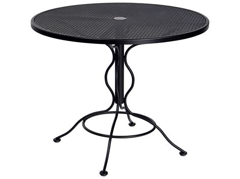 Bistro Table With Umbrella by Woodard Mesh Wrought Iron 36 Bistro Table With