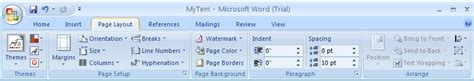layout tab word 2007 view and apply theme effects themes 171 style formatting