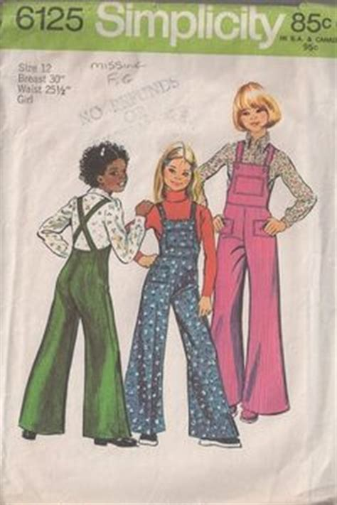 sewing pattern roller derby 1970s simplicity 5541 girls smock dress and pants pattern