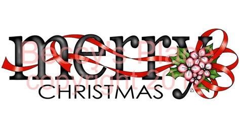 beccys place merry christmas word image