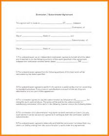 subcontracting agreement template 10 subcontractor agreement template cashier resume