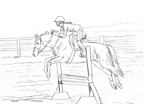 4 jumping horse printable coloring sheet for kids