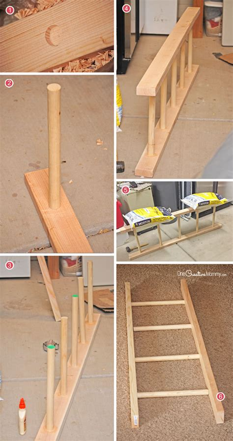 Build A Ladder Rack by Make This Easy Ladder Laundry Drying Rack
