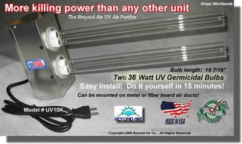 furnace air duct uv lights for air ducts