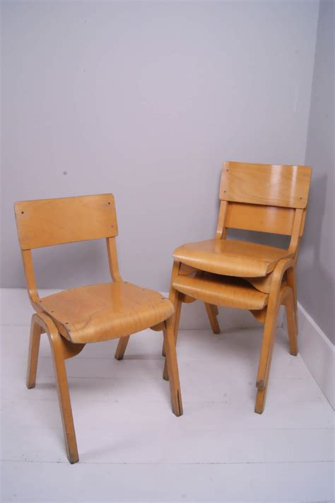 Wooden Child Chair by Children S Stackable Wooden Chairs Blue Ticking
