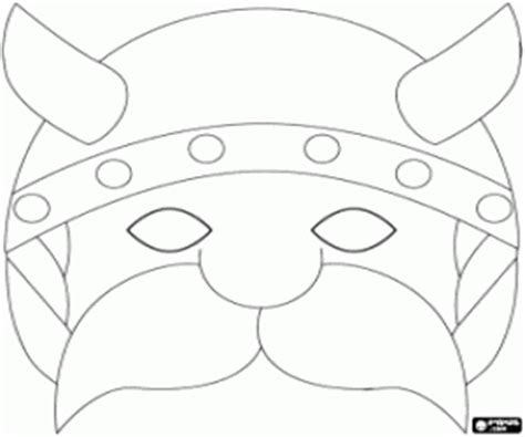printable viking mask masks coloring pages printable games 2