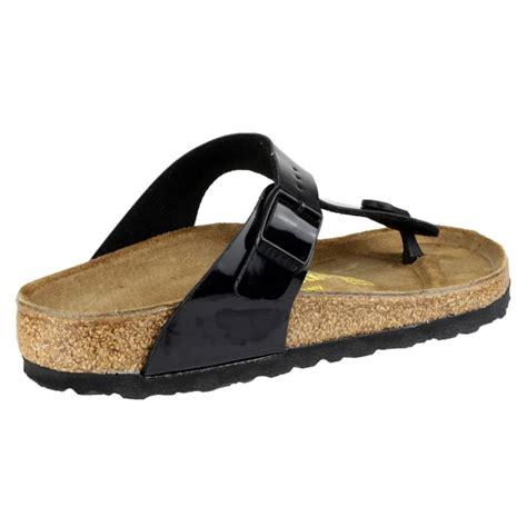 birkenstock sandals black birkenstock gizeh patent sandal s black sandals