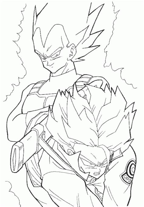 free coloring pages of dragon ball goku vs