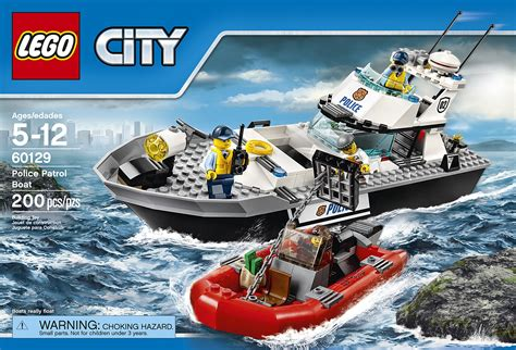 toy lego boat lego city police patrol boat 60129 building toy ebay