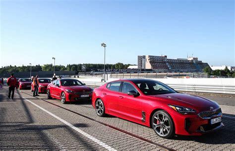 kia stinger initial launch takes place  nurburgring performancedrive