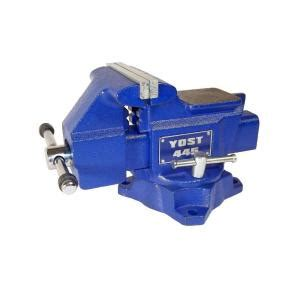 bench vise home depot yost 4 1 2 in apprentice series utility bench vise 445 the home depot