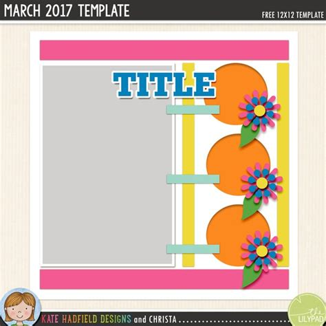 Free Digital Scrapbooking Template March Challenge Kate Hadfield Designs Digital Scrapbooking Templates