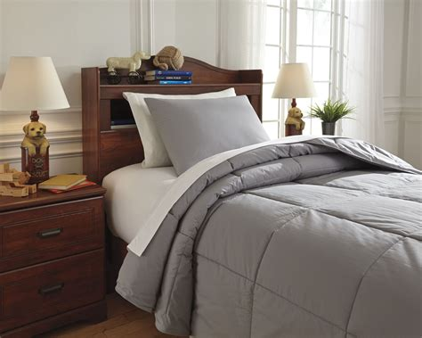 gray twin comforter plainfield gray twin comforter set from ashley q759041t