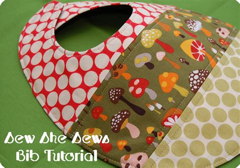 Patchwork Tutorial - quilted patchwork bib pattern and tutorial sew she sews s