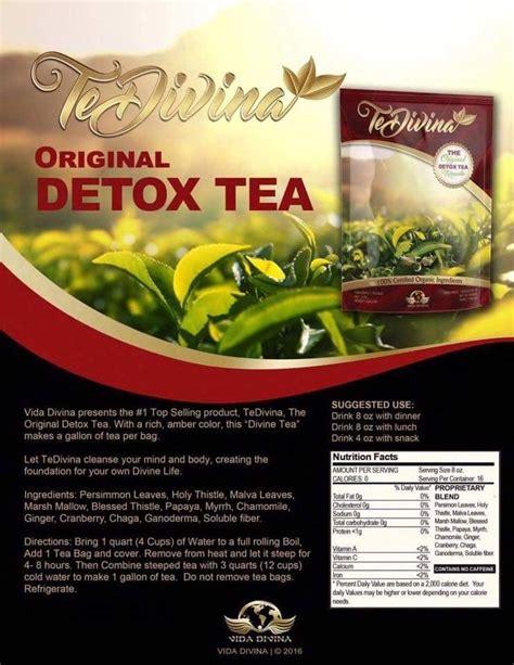 Detox Slimming Tea Uk by Vida Divina Detox And Slimming Tea 1 Week Supply