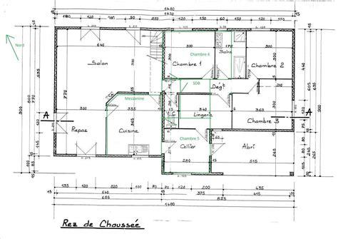 Plan De Facade De Maison Gratuit by Plan Maison Plain Pied 12m De Facade