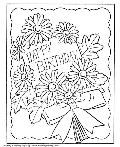 free printable cards to color birthday coloring pages free printable birthday