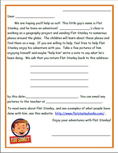 cover letter for stanley flat stanley letter choice image cv letter and