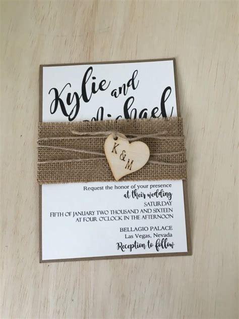 wedding invitations burlap rustic wedding invitation burlap wedding invitation