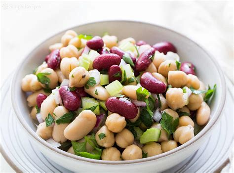 Greek Pasta Salad three bean salad recipe simplyrecipes com