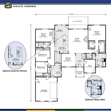 adair home floor plans adair homes the cashmere 3120 home plan