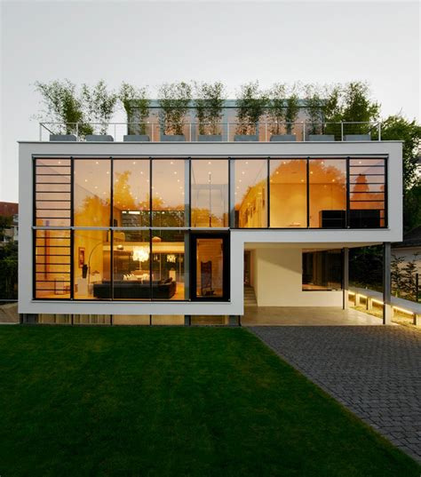 modern home design ta energy optimized house with roof terrace louver windows